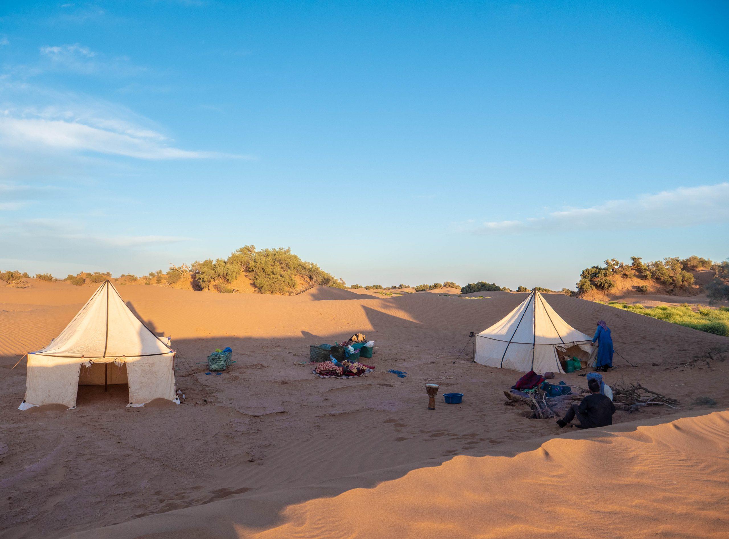 tende nel deserto
